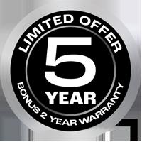 Chiq Bonus 2 Years Warranty